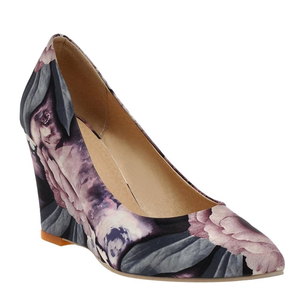 2dafac916126 ... YE Escarpins Femmes Chaussures Sexy et Simple Bout Pointu à Talon Haut  compensé sans Plateforme ...