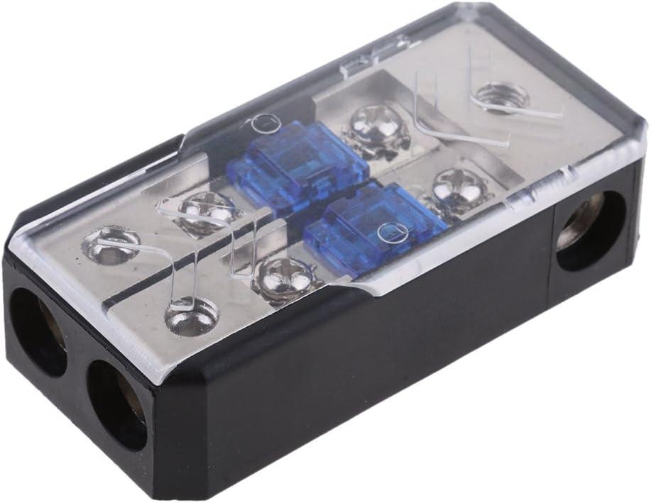 Sharplace Bloc dAlimentation Bo/îte de Fusible 60A 4//8 AWG AGU Porte-fusible Ampli de Voiture