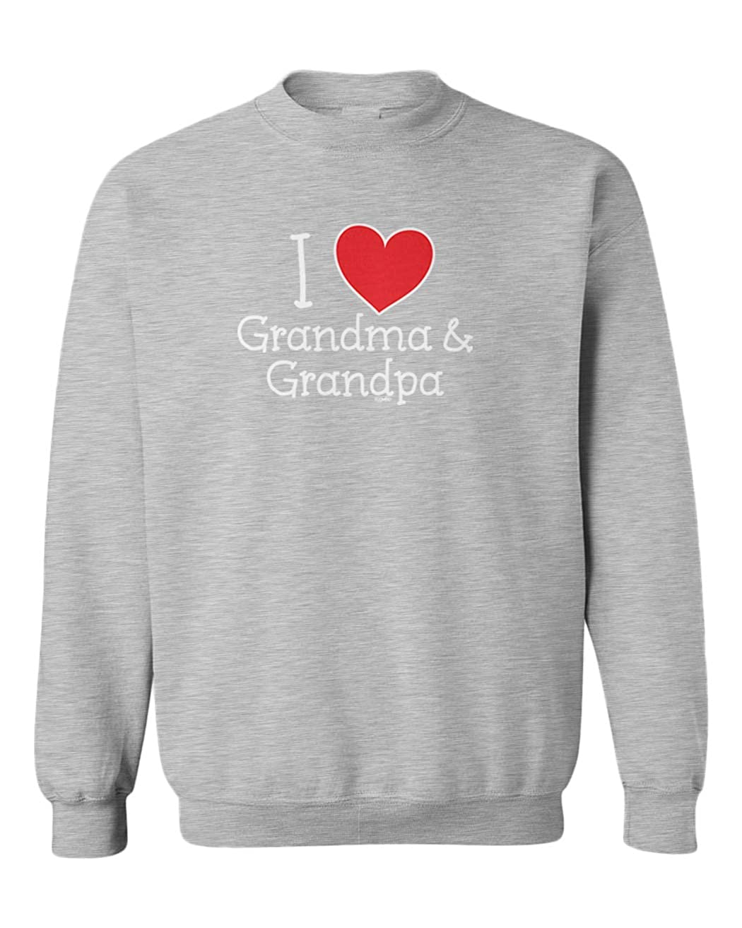 Love Youth Fleece Crewneck Sweater I Heart My Grandma /& Grandpa