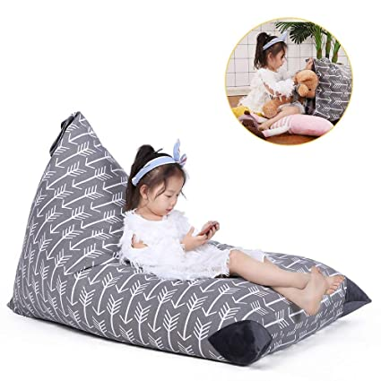 Strange Stuffed Animal Storage Bean Bag Chair For Kids And Adults Premium Canvas Stuffie Seat Cover Only Grey With White Arrows 200L 52 Gal Ibusinesslaw Wood Chair Design Ideas Ibusinesslaworg