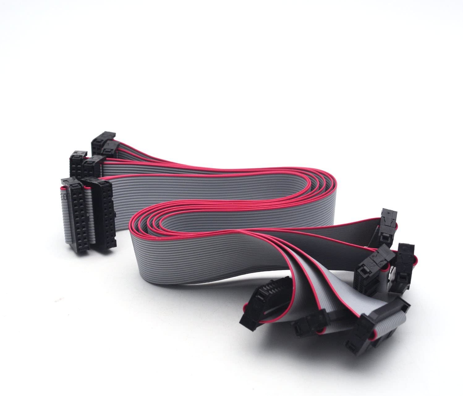 uxcell IDC 16 Pins Connector Flat Ribbon Cable Female Connector Length 20cm 1.27mm Pitch,2pcs