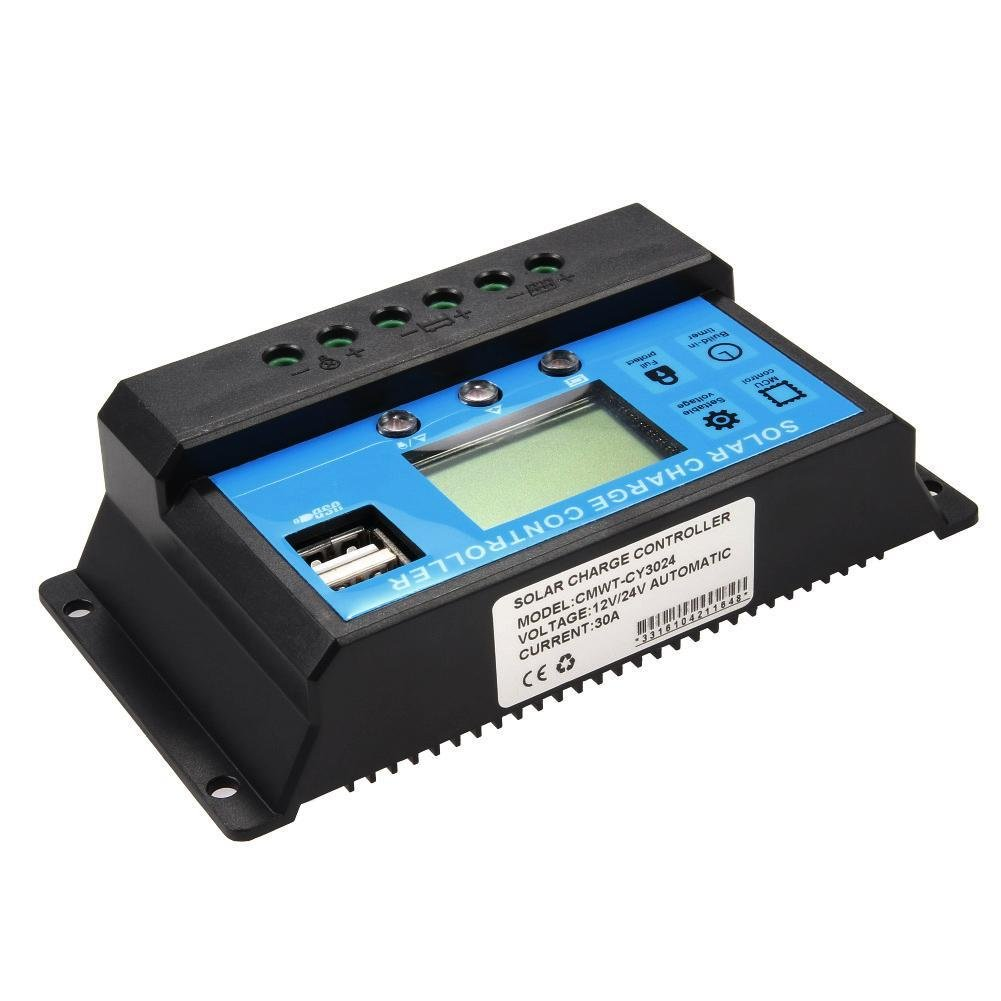 Sun YOBA Solar Charge Controller Solar Panel Controller 30A 12V 24V With Double USB Ports-US Stock by Sun YOBA (Image #7)