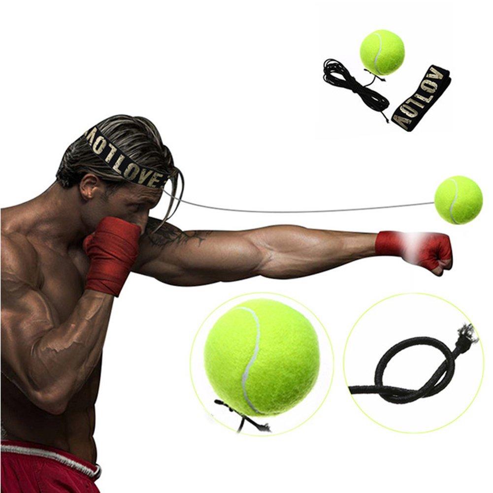 Myfei équipement de boxe Fight Ball, Reflex Speed Trainer Ballon d'entraînement de réponse rapide Accessoires