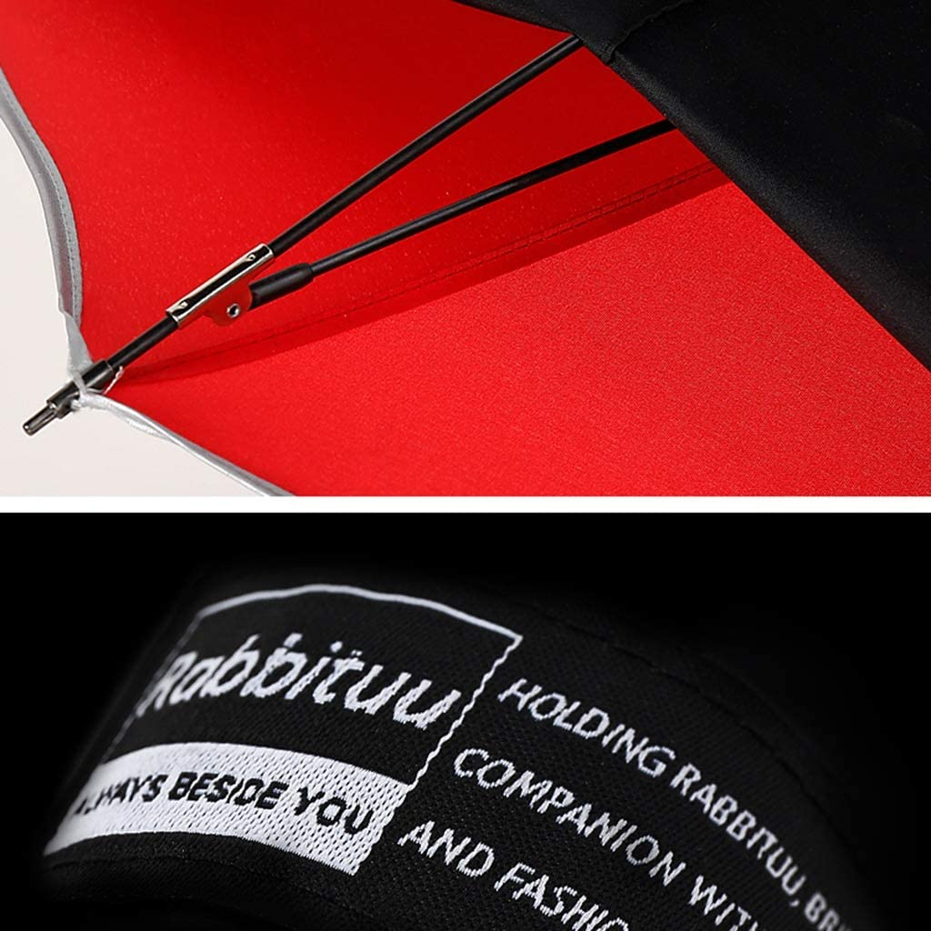 Reverse Umbrella Free-Standing Overtaking Double-Layer Umbrella Surface Reinforcement Rain and Rain Umbrella Color : B
