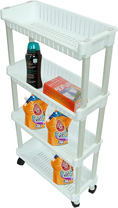 Trademark Innovations Laundry Shelves, White