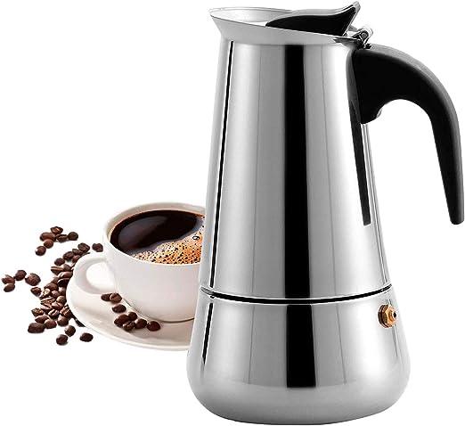 Majalis - Cafetera espresso para inducción (acero inoxidable, para casa y oficina, para cocinas eléctricas, vitrocerámica e inducción, 300 ml): Amazon.es: Hogar