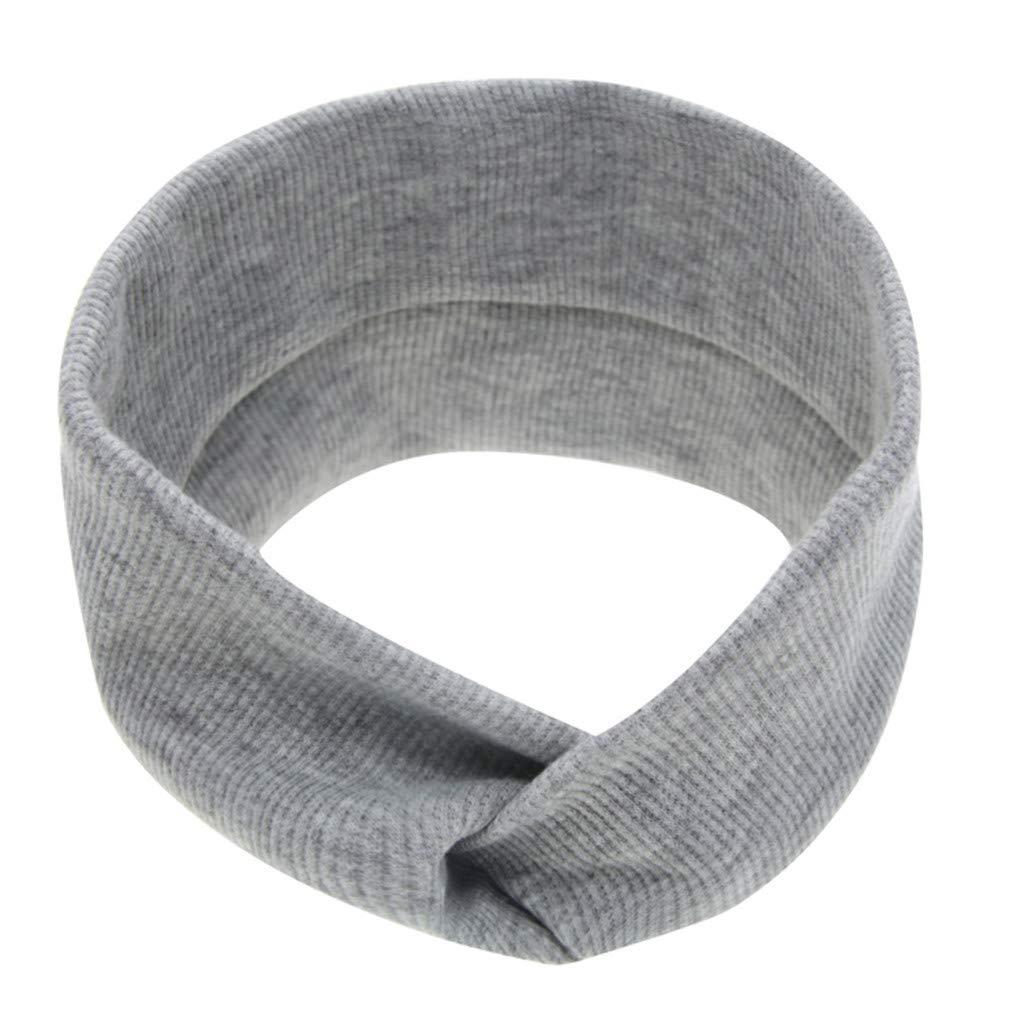 bobo4818 Neugeborenes Kleinkind Kind Baby M/ädchen fester Knoten Turban Stirnband Kopfbedeckungen Zubeh/ör