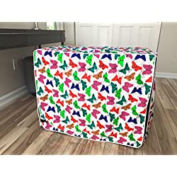 Multicolor Butterfly Dog Pet Wire Kennel Crate Cage House Cover (Small, Medium, Large, XL) (LARGE 36x24x27 inch)