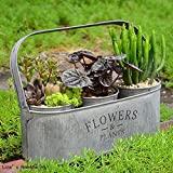 Labu Store 3 buckets in 1 antique vintage retro gray aged old galvanized bucket with handle