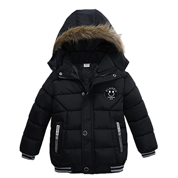 a68827761 Tenworld Toddler Baby Boys Outerwear Cotton-Padded Hooded Coats ...