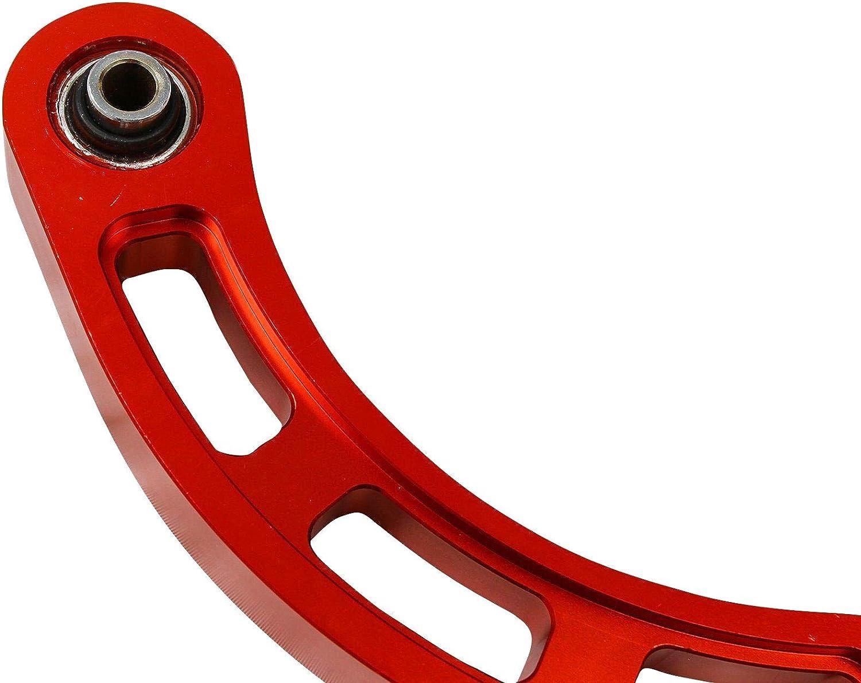 VOWAGH Spherical Bearing Adjustable Rear Camber Arm Kit Red Fit for 2002-2006 Lancer 2008-2014 Lancer 2009-2017 Lancer Ralliart Excluding Evolution