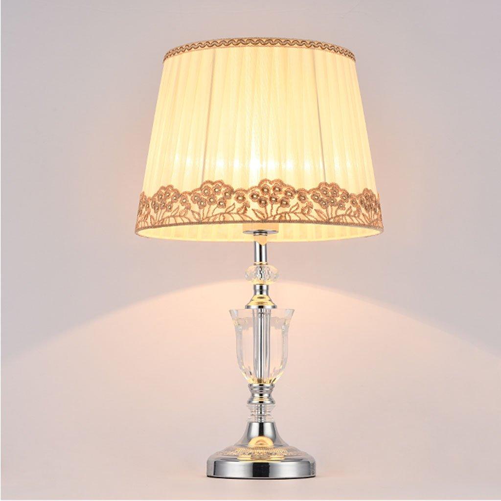 Briskaari Store- Modern Crystal Lamp Lighting Bedroom Bedside Lamp Luxury Crystal Desk Lamp with Cloth Lamp Shade by Briskaari Store (Image #4)