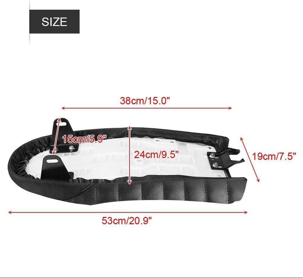Style B Sedile per moto 4 stili Cuscino per sella piatta in pelle PU vintage Cafe Racer per CG125 GN CG CB400SS