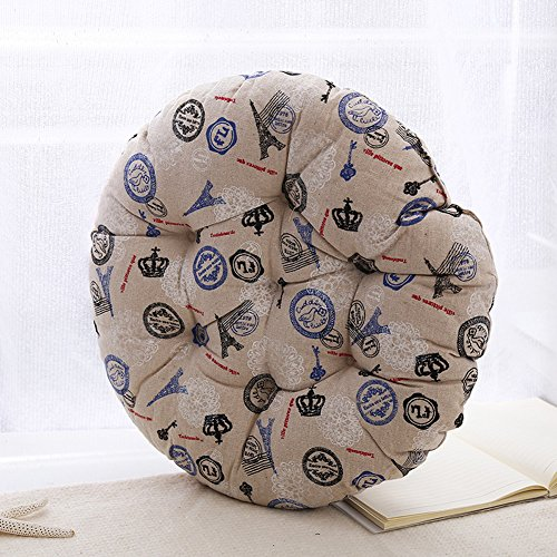 MEMORECOOL LIGHT UP YOUR HOME Modern Simple Round Floor Cushion, Futon Round Seat Cushion Window Pad Chair Cushion Sofa Pillow 23 Inch, Tower Set of 2