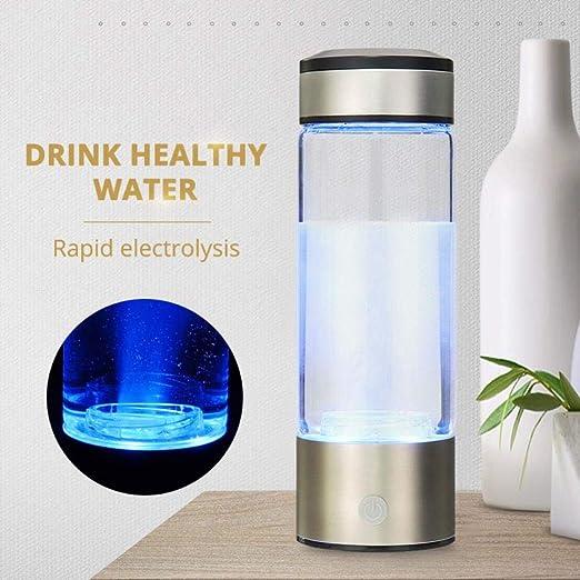 FeiKe Generador de Botella de Agua de 380 ml Saludable antiedad con hidrógeno Rico en hidrógeno Recargable por USB, para Hacer Agua alcalina con hidrógeno Rico en Solitario, España: Amazon.es