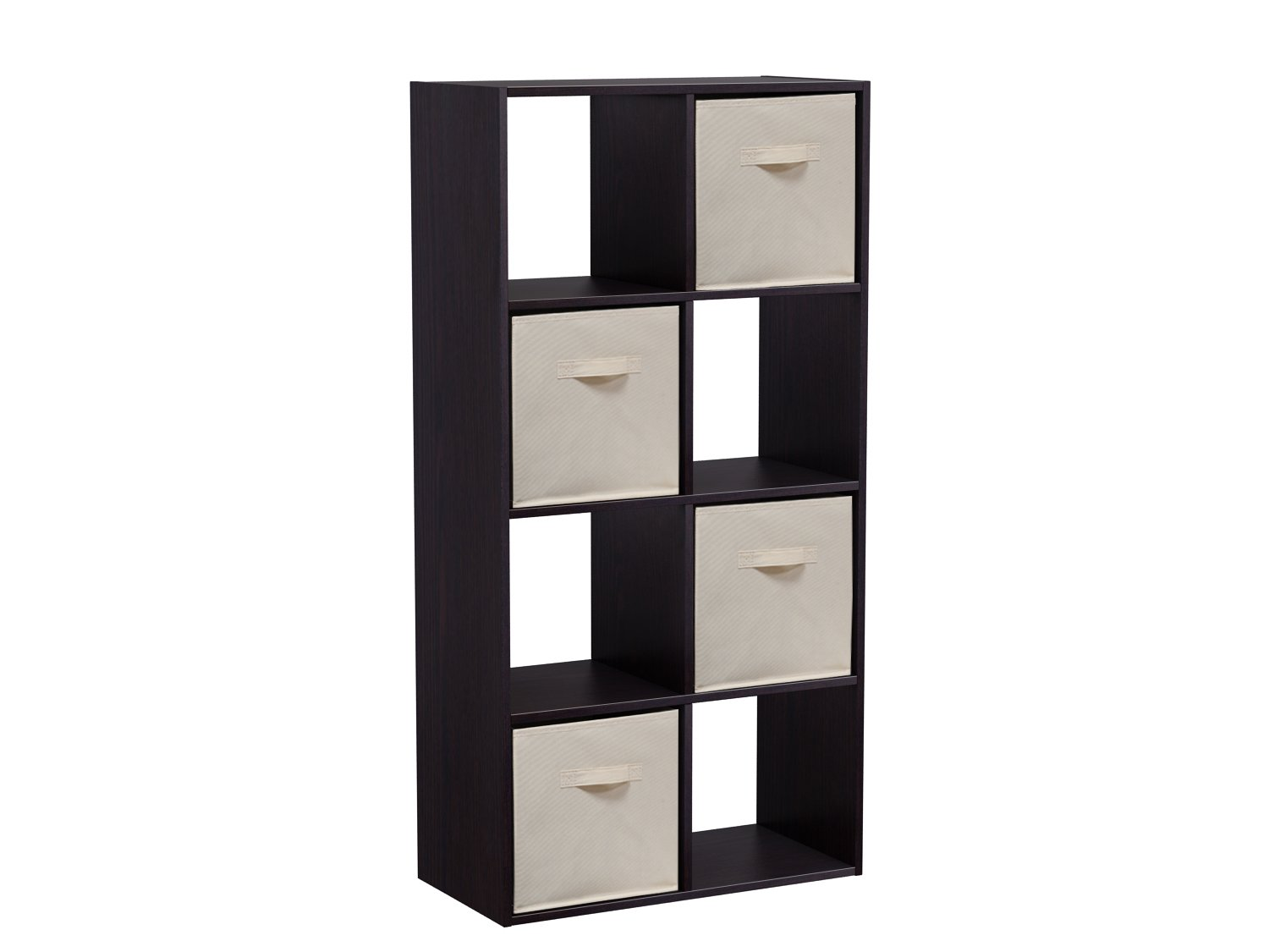Homestar 8 Cube with Fabric Bins, Black Brown by Home Star (Image #2)