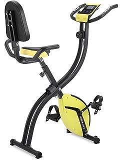 5e78ee3430b5 フィットネスバイク エクササイズバイク 心拍数測定 負荷調節 高機能デジタルメーター付き タブレットトレー