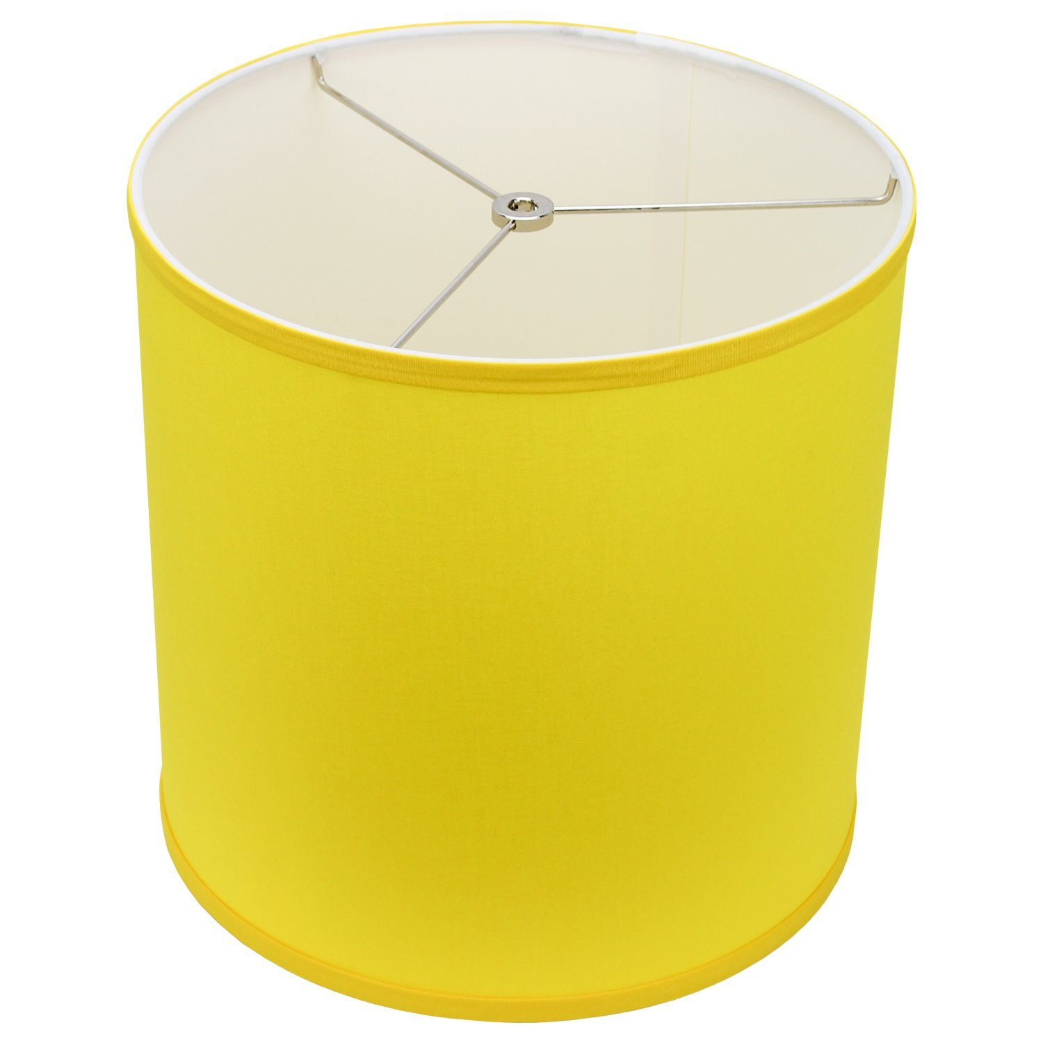 FenchelShades.com 12'' Top Diameter x 12'' Bottom Diameter 12'' Height Cylinder Drum Lampshade USA Made (Citrus)