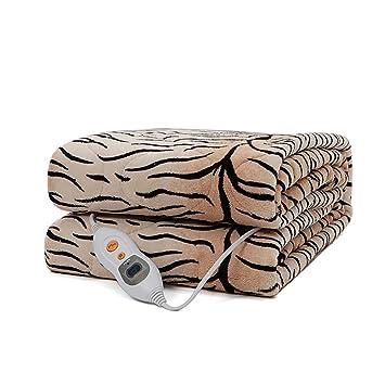 Tiger Patrón Estudiante Manta Eléctrica Individual Inalámbrica Delgada Y Delgada Cintura Eléctrica (150 * 130