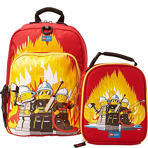 LEGO City Fire Backpack & Lunch (Red)