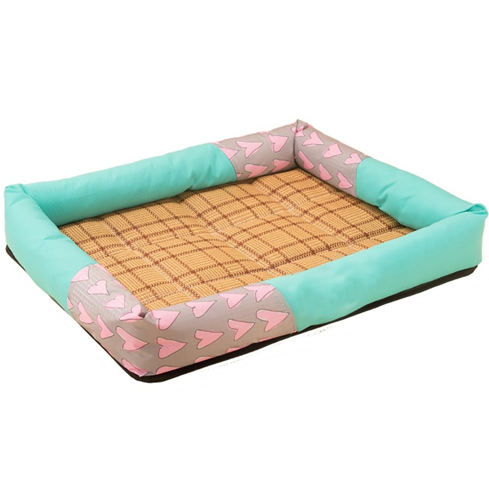 bluee L bluee L FXNN Pet Bed Simple and not Deformed Medium Small Dog pet nest (color   bluee, Size   L)