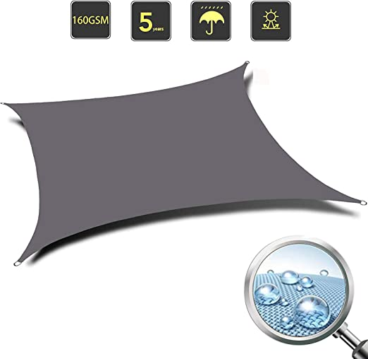 LL-WZB Vela de Sombra Toldo Parasol Resistente e Impermeable Shade ...