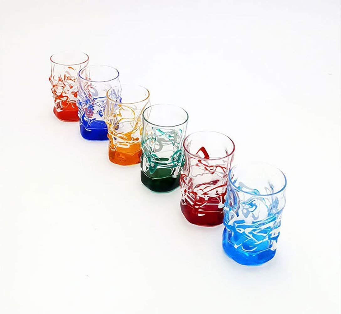 set 6Source liqueur glasses Murano Style Venice Glass Hand Painted