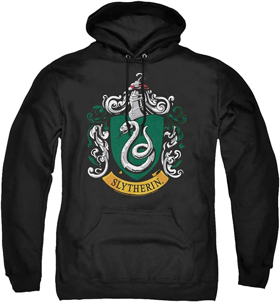 Harry Potter Distressed Slytherin Crest Adults Unisex Black Sweatshirt