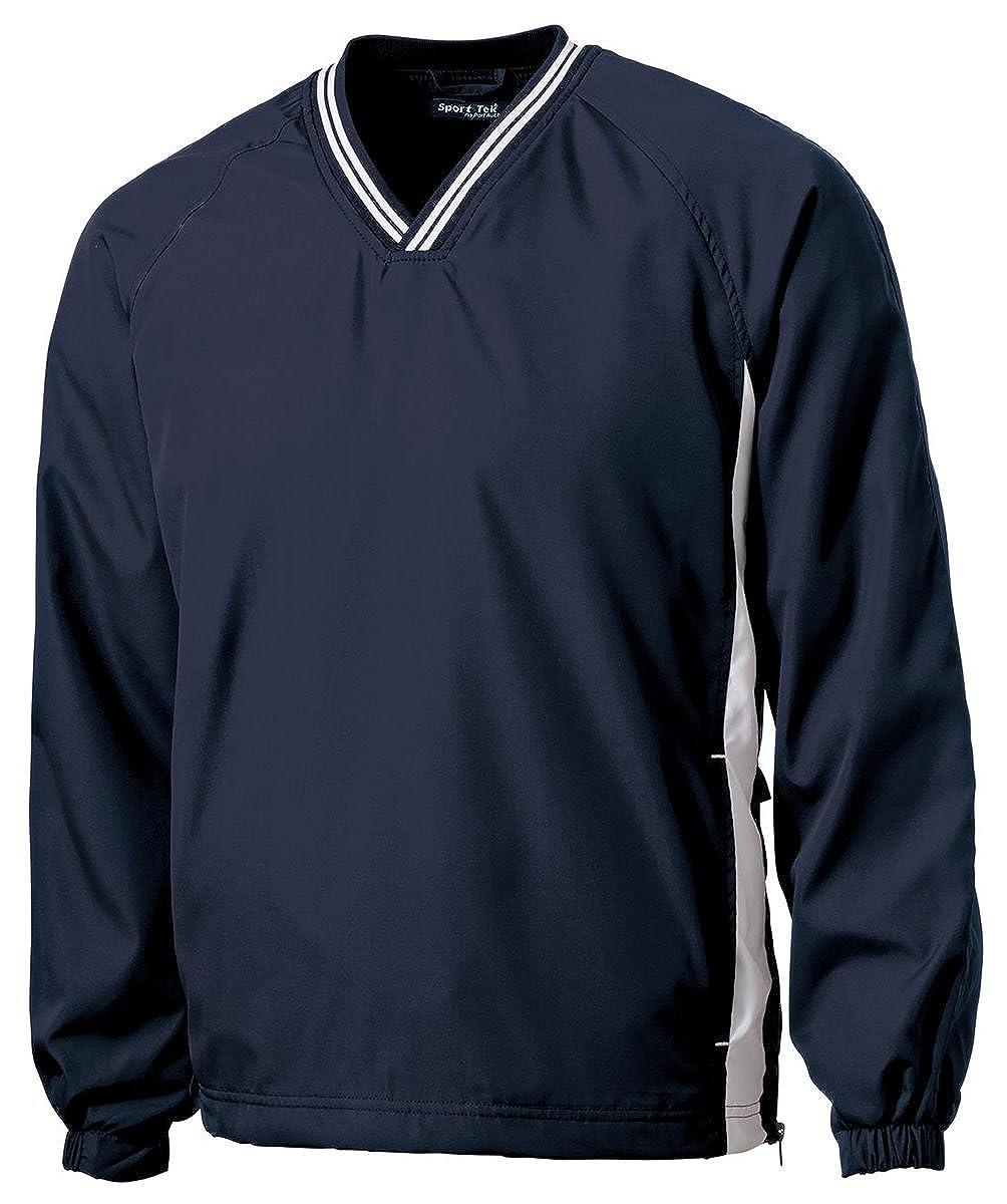 TJST62 Graphite Grey// White XLT Sport-Tek Tall Tipped V-Neck Raglan Wind Shirt