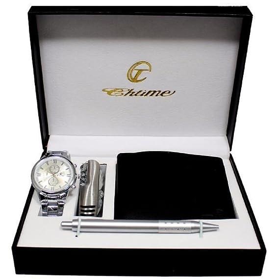 Ernest – Estuche de regalo para hombre con reloj, cartera, bolígrafo y navaja multifunción
