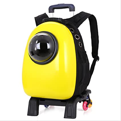 Innovador Traveler burbuja mochila transporte para mascotas gatos y perros doble uso (Multicolor),