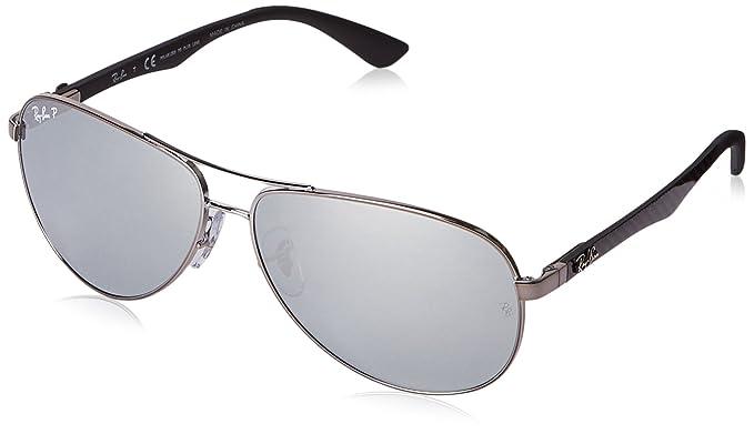 Ray-Ban Carbon Fibre Gafas de sol, Aviador, Polarizadas, 61 ...
