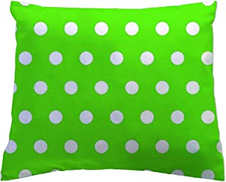 product image for SheetWorld - Toddler Pillowcase Hypoallergenic Made in USA - Polka Dots Lime 13 x 17