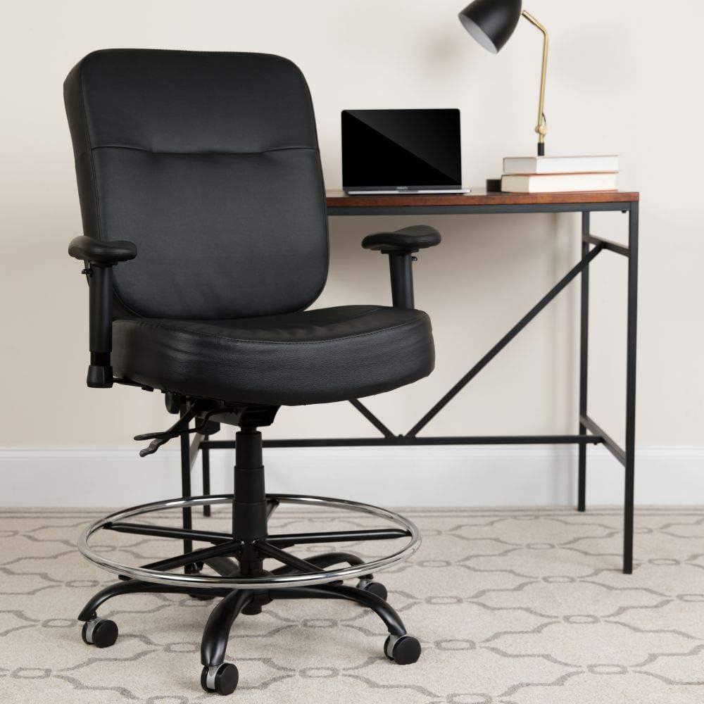 Flash Furniture 400LB Draft Chair, Black LeatherSoft