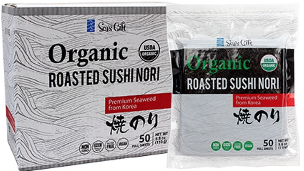 Jayone Organic Premium Sushi Nori Seaweed, 50 Sheets, 3.8 Ounce (Pack of 6) by Jayone