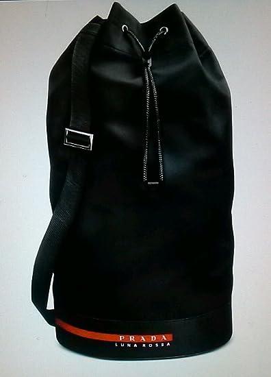 6c5629a61e8843 Amazon.com : PRADA LUNA ROSSA EXTREME BLACK SAILING BAG : Beauty