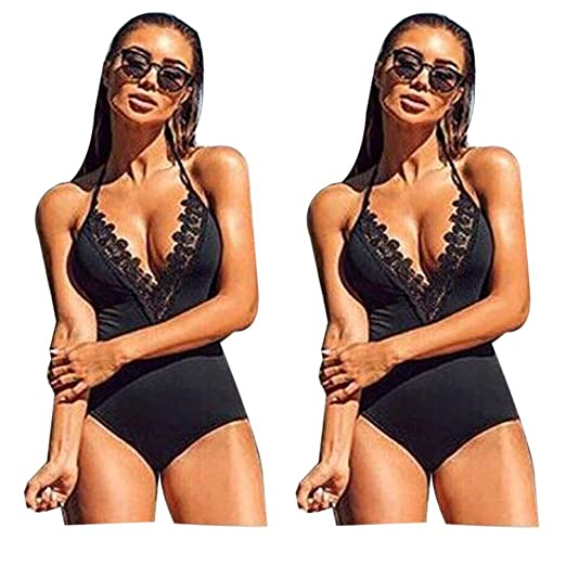 550323ecf2 Sunward Women Sexy One Piece Swimsuit Push Up Padded Bikini Brazilian (S