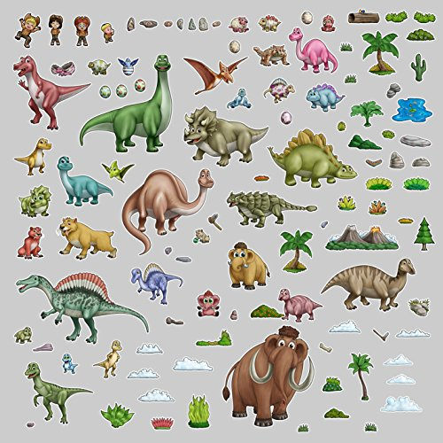 (Dinosaur Reusable Kids Decorative Peel & Stick Wall Decals - Art Decore (110 Decals!))