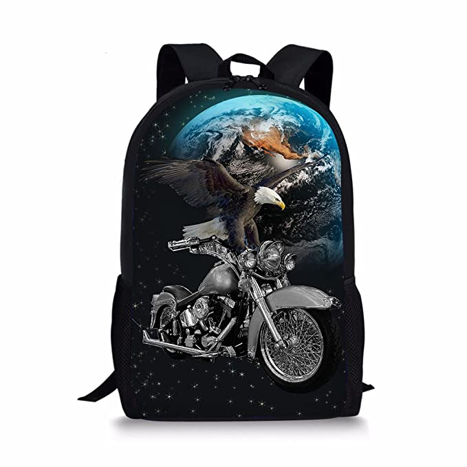 Showudesigns Cool Animal Backpack Galaxy Star School Bag for Junior Kids