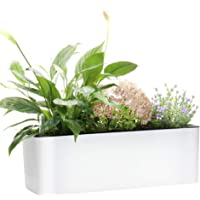 Rectangle Self Watering Planter Pots Window Box 40 cm Indoor Home Garden Modern Decorative Planter Pot for All House…