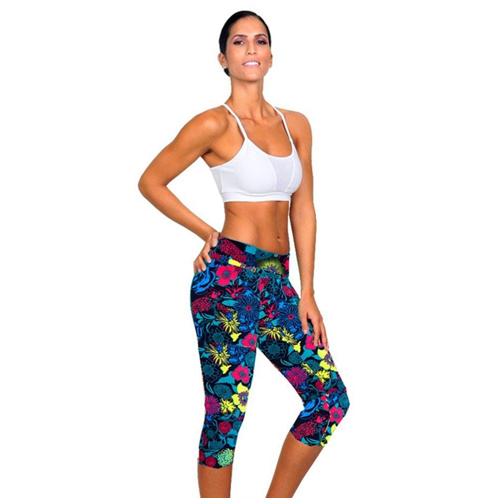 Women Sports Gym Yoga Workout Mid Waist Running Pants Fitness Elastic Leggings M, Purple WINWINTOM High Waist Fitness Yoga Sports Leggings Running Tights High Waist Stretch Fitness Yoga Pants