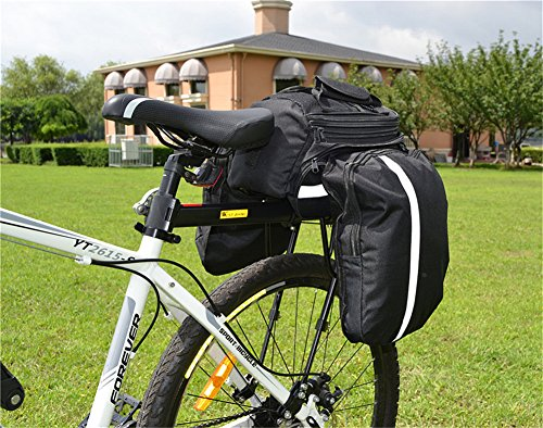 West Biking 110Lb Capacity Almost Universal Adjustable Bike Cargo Rack Cycling Equipment Stand Footstock Bicycle Luggage Carrier Racks with Reflective Logo by West Biking (Image #8)