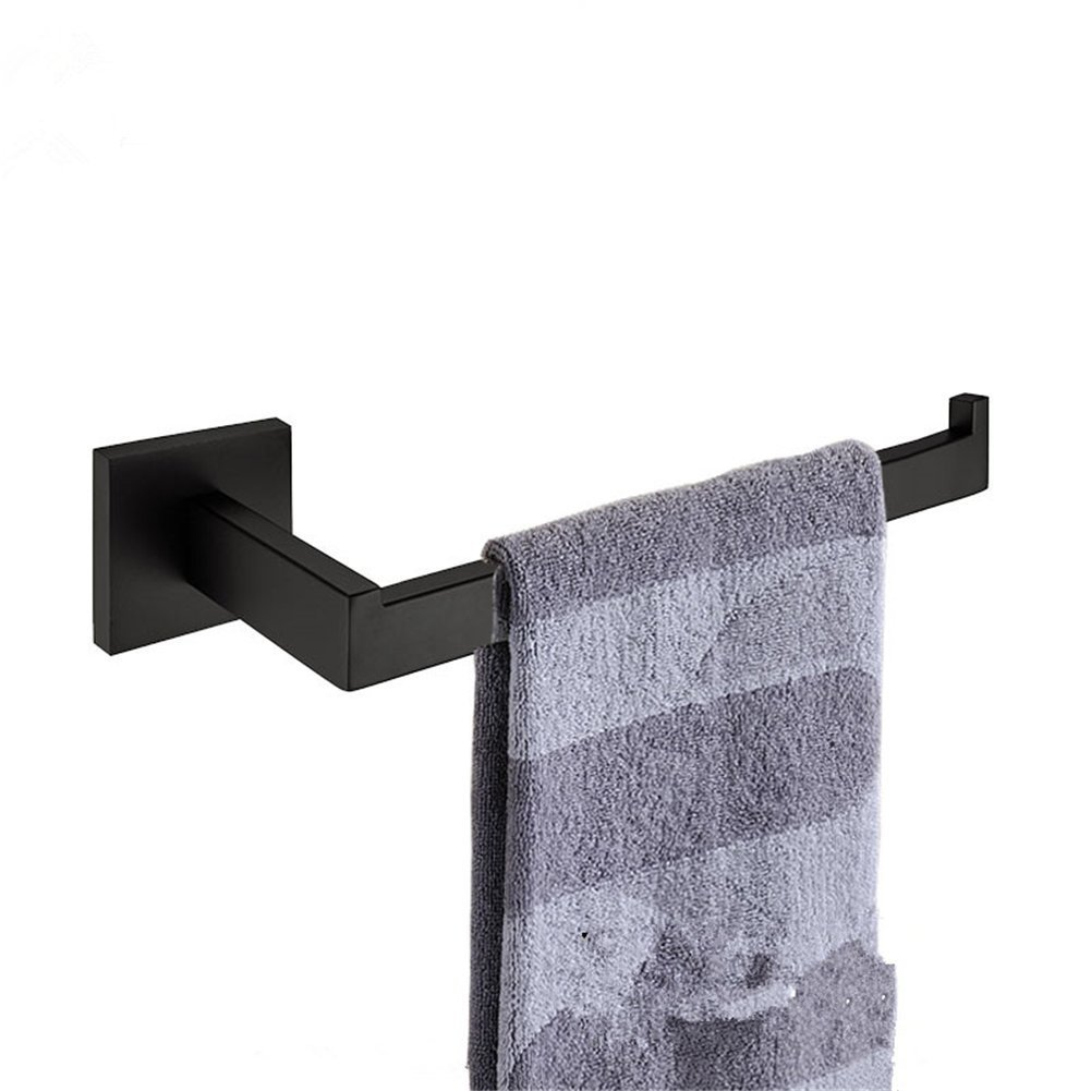 WINCASE Black SUS304 Stainless Steel Square Brushroom Towel Ring ,Wall Mounted Towel Holder in Contemproary Style