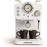 IKOHS THERA Retro - Cafetera Express para Espresso y Cappucino, 1100W, 15 Bares, Vaporizador Orientable, Capacidad 1.25l…