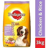 Pedigree Senior Dry Dog Food, Chicken & Rice – 3 kg Pack