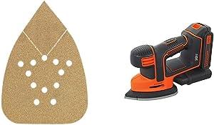 BLACK+DECKER BDAMX Mouse Assorted Sandpaper, 12-Pack with BLACK+DECKER BDCMS20C 20V MAX Lithium Ion MOUSE Sander