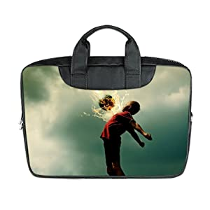 INSTALL AND EASY TO CARRY Wear& Slim &Dapper Soccer Custom Waterproof Nylon Bag for Laptop 13Inches(Twin sides)