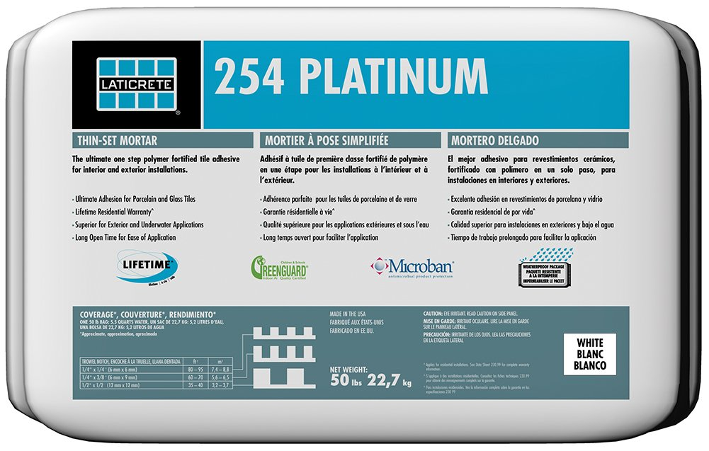 Laticrete 254 Platinum White - 50 lb Bag