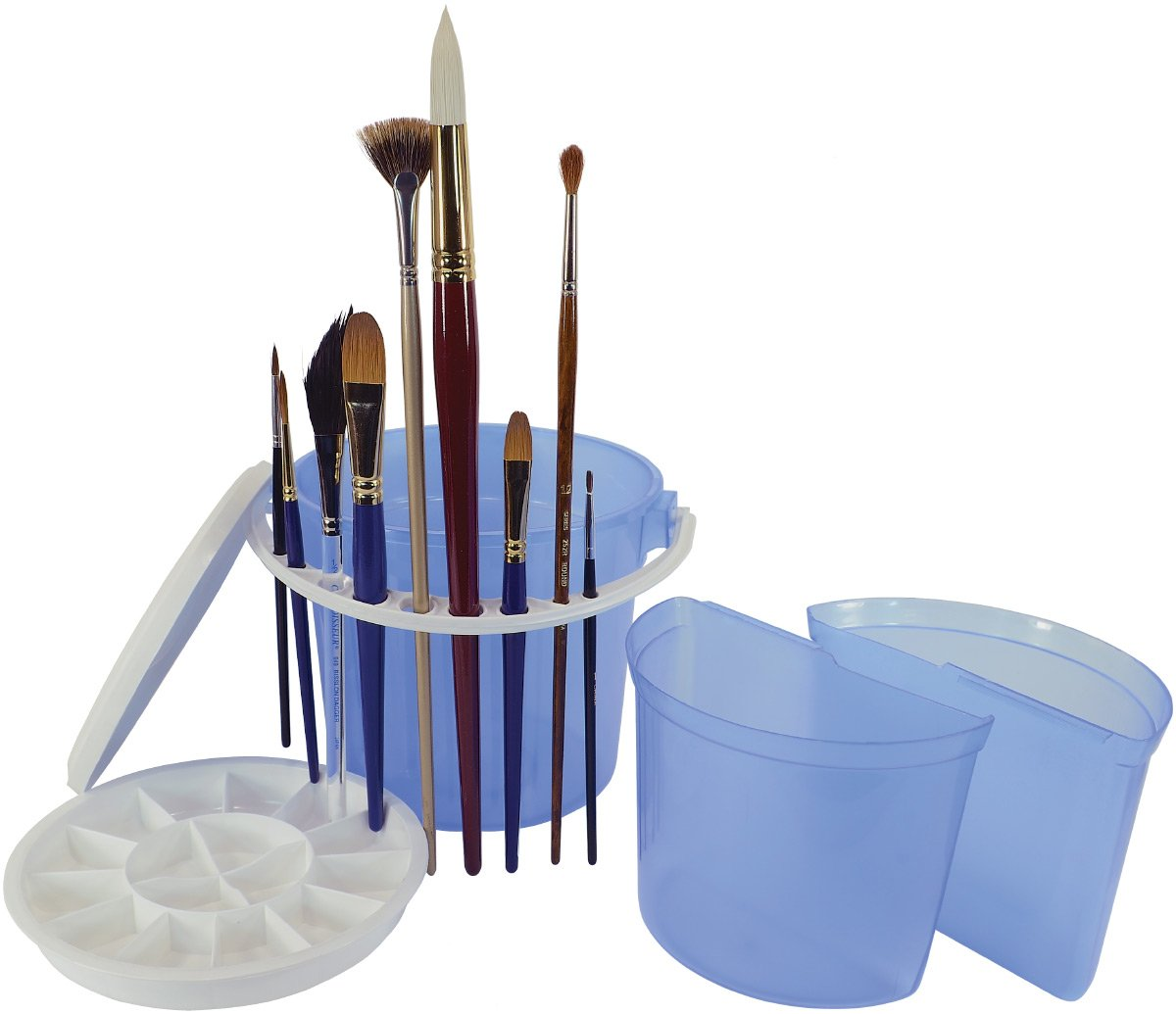 Art Advantage ART-6945-4 Brush Wash Bucket With Removable Inner Basins