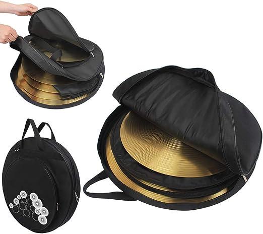 Bolsa de Platillo de Tres Bolsillos - de 21 Pulgadas Backpack Estuche Soporte - para Bolsa Percusión Tres Bolsillos - Bolsa para Platillos: Amazon.es: Hogar
